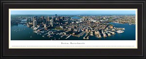 Boston, Massachusetts Deluxe Framed Skyline Picture 5