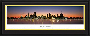 Chicago, Illinois Deluxe Framed Skyline Picture 2