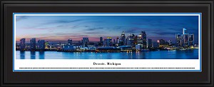 Detroit, Michigan Deluxe Framed Skyline Picture 5