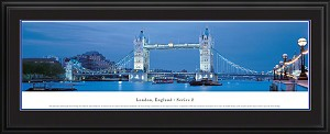 London, England Deluxe Framed Skyline Picture 2