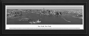 New York, New York Deluxe Framed Black And White Skyline Picture 19