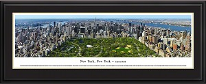 New York, NY Central Park Deluxe Framed Skyline Picture