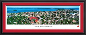 University Of Wisconsin Madison Campus Stadium Deluxe Framed Picture