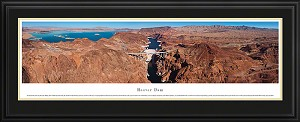 Hoover Dam Aerial Deluxe Framed Skyline Picture