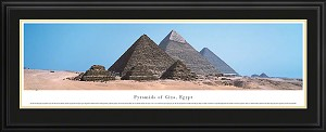 Pyramids Of Giza Deluxe Framed Skyline Picture