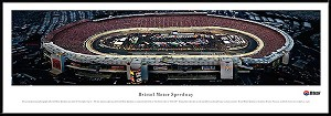 Bristol Motor Speedway (Night) Framed Panoramic Picture