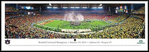 2011 Football National Champions Auburn Framed Stadium Picture