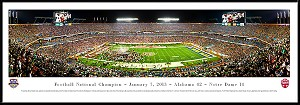 2013 BCS Panoramic Alabama Championship Framed Picture