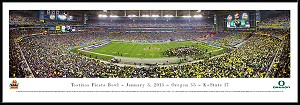 2013 Fiesta Bowl Panoramic University Of Oregon Ducks Framed Picture