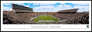 Michigan State University Framed Spartan Stadium Picture
