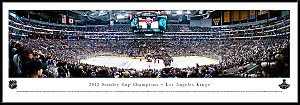Los Angeles Kings Stanley Cup Champions Framed Arena Picture