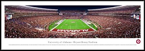 University Of Alabama Bryant Denny Framed Stadium Picture 2