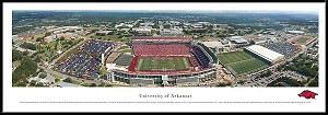 University Of Arkansas Framed Stadium Picture