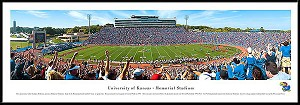 University Of Kansas Framed Stadium Picture