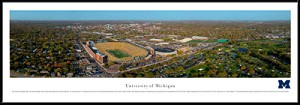 University Of Michigan Michigan Framed Stadium Picture 3