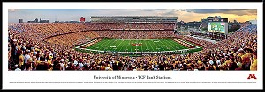 University Of Minnesota Framed Stadium Picture
