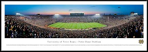 University Of Notre Dame Framed Stadium Picture
