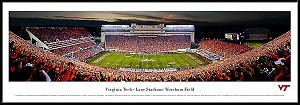 Virginia Tech Framed Stadium Picture