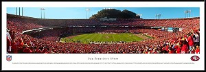San Francisco 49ers Candlestick Park Framed Stadium Picture