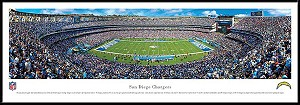 San Diego Chargers Framed Stadium Picture