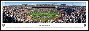 Oakland Raiders Framed Stadium Picture
