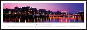 Amsterdam, Netherlands Framed Skyline Picture 2