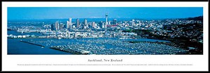 Auckland, New Zealand Framed Skyline Picture