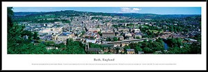 Bath, England Framed Skyline Picture