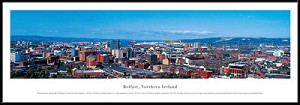 Belfast, Northern Ireland Framed Skyline Picture