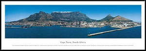 Cape Town, South Africa Framed Skyline Picture