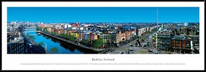 Dublin, Ireland Framed Skyline Picture
