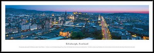 Edinburgh, Scotland Framed Skyline Picture