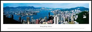 Hong Kong, China Framed Skyline Picture 2