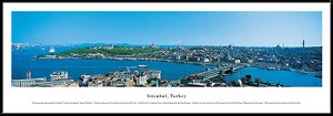 Istanbul, Turkey Framed Skyline Picture