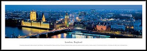London, England Framed Skyline Picture 1a