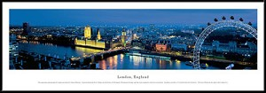 London, England Framed Skyline Picture 1b