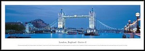 London Tower Bridge, England Framed Skyline Picture 2