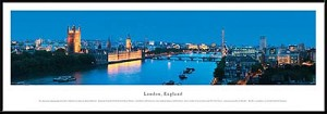 London, England Framed Skyline Picture 5