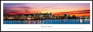 Montreal, Canada Framed Skyline Picture 2