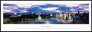 Moscow, Russia Framed Skyline Picture