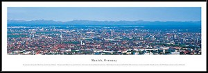 Munich, Germany Framed Skyline Picture 1