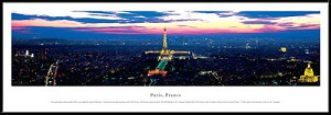 Paris, France Framed Skyline Picture 1