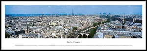 Paris, France Framed Skyline Picture 2