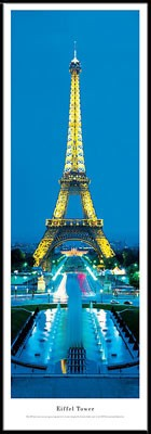 Eiffel Tower  Paris, France Framed Skyline Picture 2