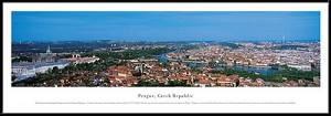 Prague, Czech Republic Framed Skyline Picture