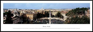 Rome, Italy Framed Skyline Picture 1