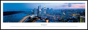Singapore Framed Skyline Picture 1