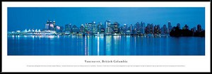 Vancouver, Canada Framed Skyline Picture 1