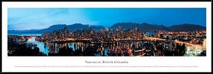 Vancouver, Canada Framed Skyline Picture 5