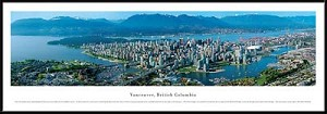 Vancouver, Canada Framed Skyline Picture 4